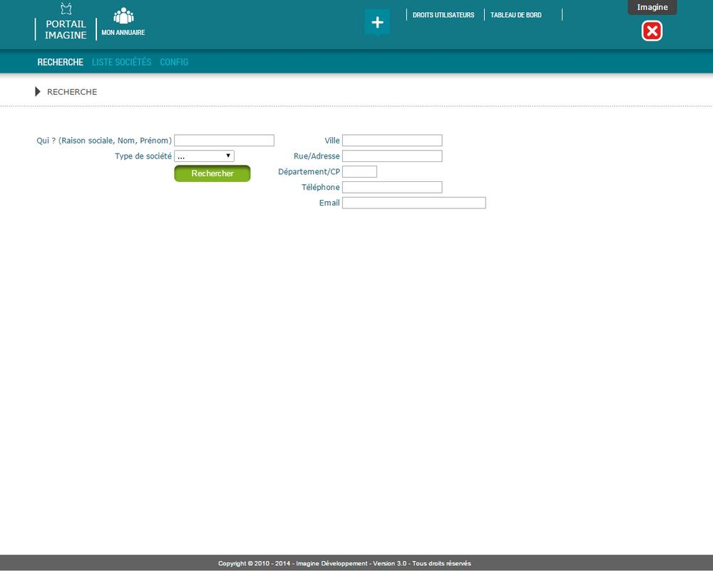 Interface de recherche d'un contact dans l'application Mon Annuaire