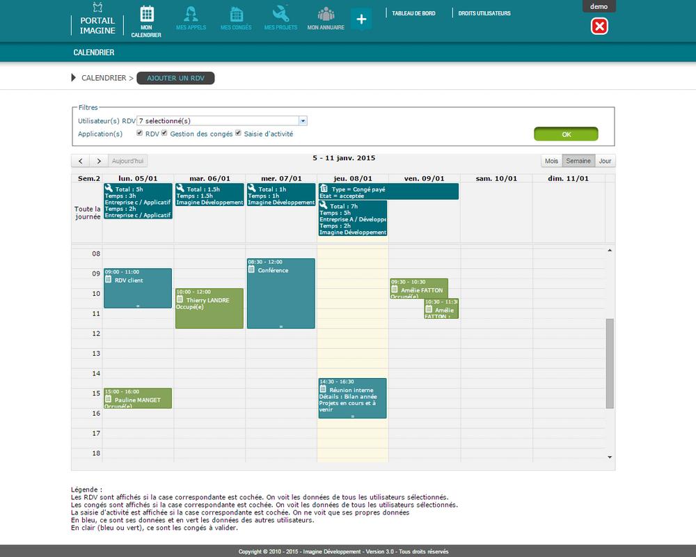 Synchronisation du calendrier avec d'autres applications web